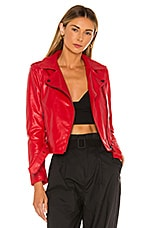 superdown Kailey Moto Jacket in Red