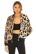 superdown Uma Zip Up Jacket in Leopard