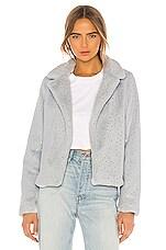 superdown Roxy Faux Fur Coat in Grey Metallic