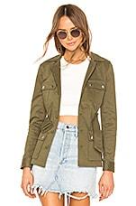 superdown Trista Belted Jacket in Olive