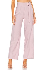 superdown Alba Belted Pant in Mauve