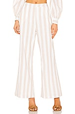 superdown Laura Striped Pants in Nude & White