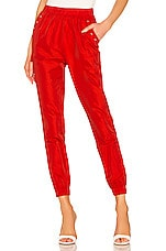 superdown Missy Jogger Pant in Red