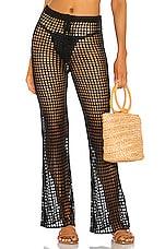 superdown x Chantel Jeffries Hannah Crochet Pant in Black
