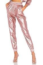 superdown Amalie Windbreaker Pant in Metallic Pink