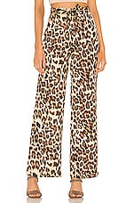 superdown Tyra Waist Tie Pant in Leopard