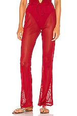 superdown Lainey Mesh Pant in Red