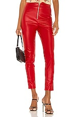 superdown Shonda Faux Leather Pants in Red