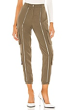 superdown Frankie Zipper Pant in Olive