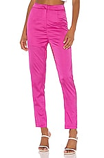 superdown Nona Satin Pant in Hot Pink