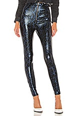 superdown Tabatha High Waist Pant in Blue Snake
