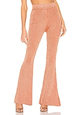 superdown Aviana Knit Pant in Rose Gold