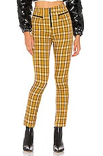 superdown Rose Skinny Plaid Pant in Yellow Plaid