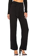 superdown Jordayn Tie Waist Pants in Black
