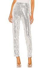 superdown Riley Straight Leg Pant in Silver