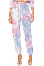 superdown Paris Sweatpants in Pink & Blue