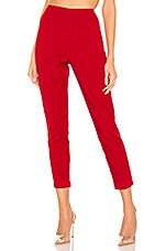 superdown Maisie Zip Back Skinny Pants in Red