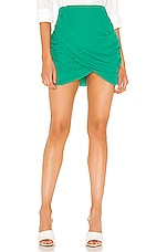 superdown Lynna Draped Mini Skirt in Green