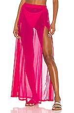 superdown Leilani Mesh Maxi Skirt in Hot Pink