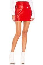superdown Wendy Moto Mini Skirt in Red