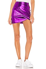 superdown Charmaine Wrap Mini Skirt in Purple