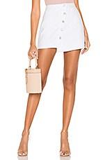 superdown Leely Asymmetrical Wrap Skirt in White