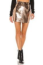superdown Adelyn Mini Skirt in Rose Gold