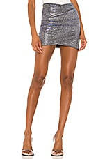 superdown Helena Wrap Skirt in Silver