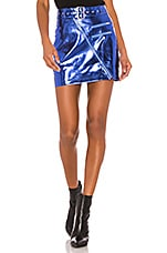superdown Hunter Belted Mini Skirt in Blue