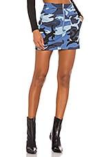 superdown Cade Camo Skirt in Blue Camo