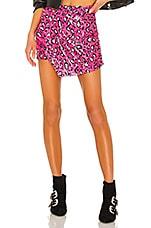 superdown Selma Sequin Overlay Skirt in Pink