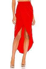 superdown Arielle Slit Maxi Skirt in Red