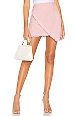 superdown Savana Frayed Hem Skirt in Pink