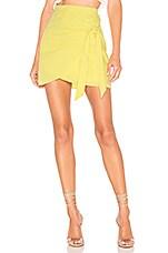 superdown Aaliyah Wrap Mini Skirt in Yellow