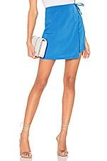 superdown Jasper Wrap Skirt in Aqua Blue