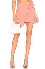 superdown Monica Wrap Tie Skirt in Pink