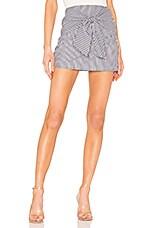 superdown Leti Tie Front Skirt in Blue Stripes