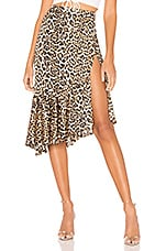 superdown Gabriela Ruffle Midi Skirt in Leopard