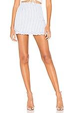superdown Regina Frill Skirt in Blue Stripe