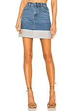 superdown Victoria Denim Skirt in Two Tone Wash