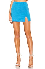 superdown Dillon Mini Skirt in Aqua
