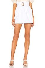 superdown Skylar Belted Mini Skirt in White
