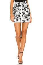superdown Tabi Zip Up Skirt in Black & White