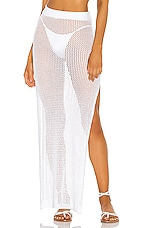 superdown Yael Knit Maxi Skirt in White