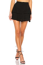 superdown Becky Ruffle Tier Skirt in Black