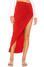 superdown Candice Slinky Maxi Skirt in Cherry
