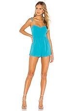 superdown Denise Romper in Turquoise
