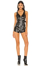 superdown Naya Moto Romper in Black