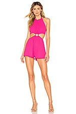 superdown x REVOLVE Eliana O Ring Cut Out Romper in Hot Pink