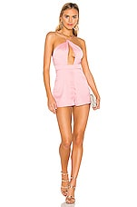 superdown Mariana Cut Out Romper in Blush